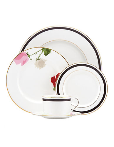 Kate Spade New York Rose Park 5-Piece Place Setting-WHITE-One Size