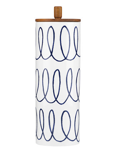Kate Spade New York Charlotte Street Tall Canister-WHITE-One Size