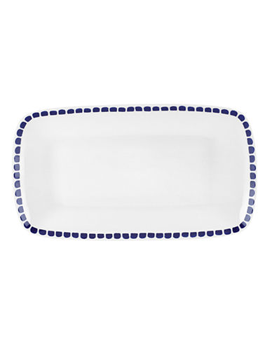 Kate Spade New York Charlotte Street Hors Doeuvres Tray-WHITE-One Size