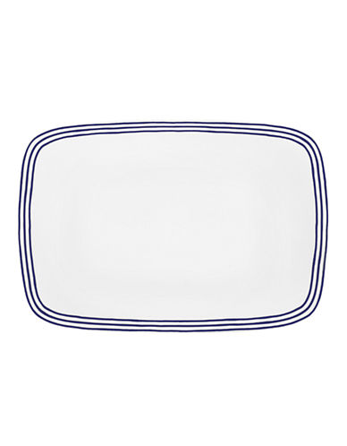 Kate Spade New York Charlotte Street Oblong Platter-WHITE-One Size