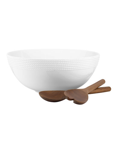 Kate Spade New York Wickford Salad Bowl and Servers-WHITE-One Size 87811585_WHITE_One Size