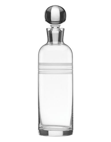 Kate Spade New York Library Stripe Decanter-CLEAR-One Size