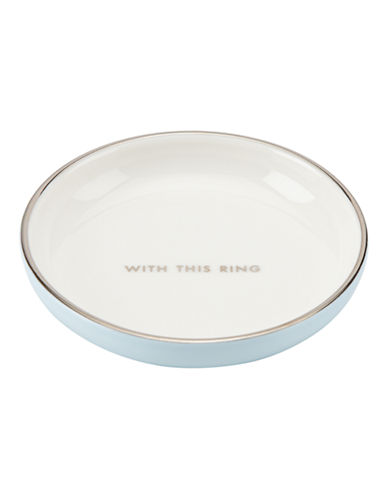 Kate Spade New York Take The Cake Ring Dish-WHITE-One Size