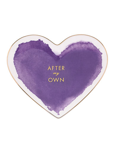 Kate Spade New York Posy Court Heart Dish-PURPLE-One Size