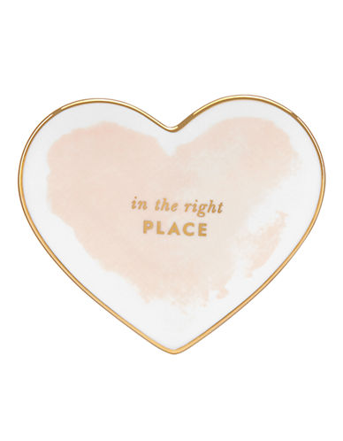 Kate Spade New York Posy Court Small Heart Dish-WHITE-One Size