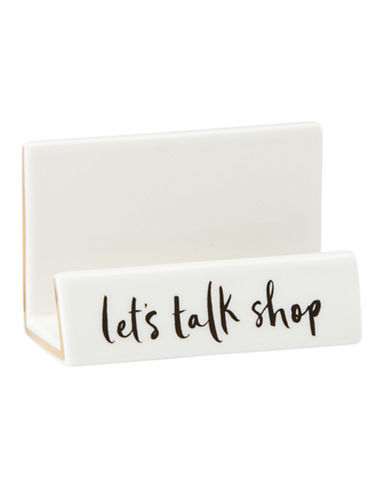 Kate Spade New York Daisy Place Buisness Card Holder-WHITE-One Size