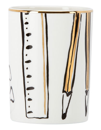 Kate Spade New York Daisy Place Pencil Holder-WHITE-One Size
