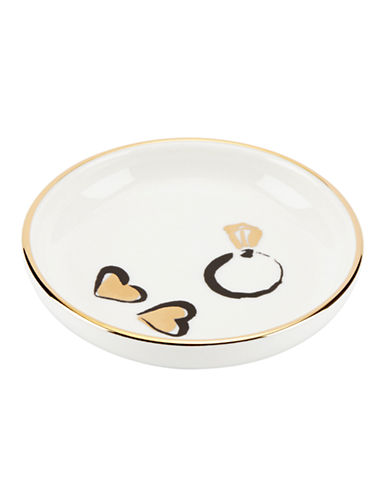 Kate Spade New York Daisy Place Ring Dish-WHITE-One Size