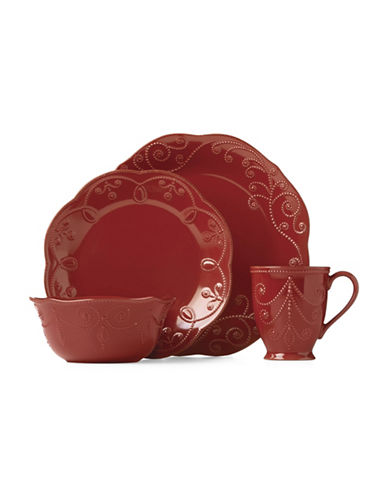 Lenox 16-Piece French Perle Dinnerware Set-RED-One Size