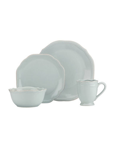 Lenox 4-Piece French Perle Beaded Dinnerware Set-ICE BLUE-One Size
