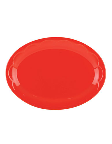 Kate Spade New York Scalloped Platter-RED-One Size