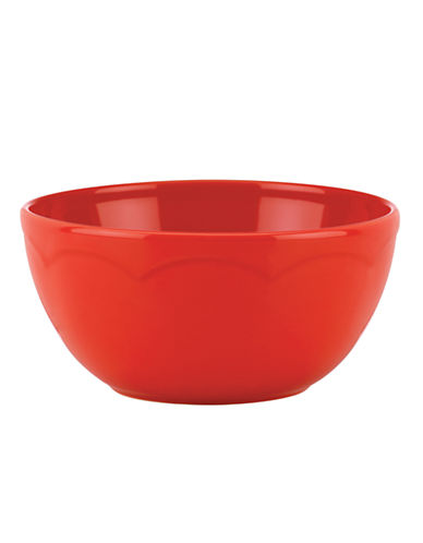 Kate Spade New York Scalloped Soup and Cereal Bowl-RED-One Size
