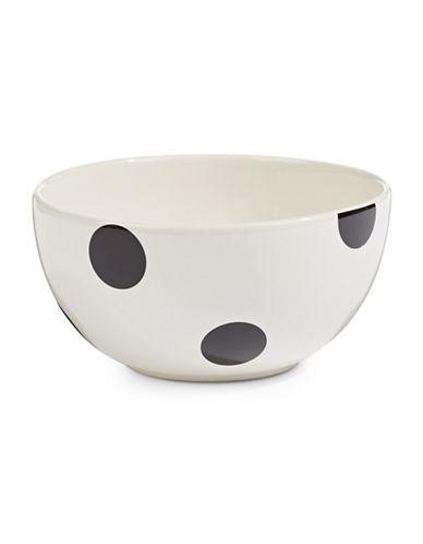 Kate Spade New York Deco Dot Fruit Bowl-WHITE-One Size