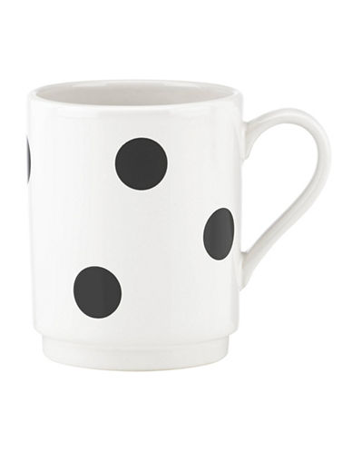 Kate Spade New York Scatter Dot Mug-WHITE-One Size