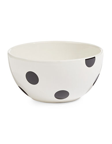 Kate Spade New York Deco Dot Cereal Bowl-WHITE-One Size
