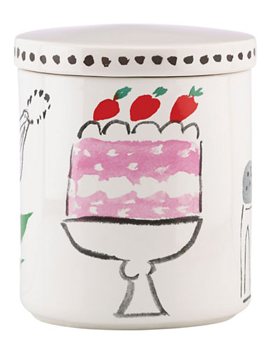 Kate Spade New York Pretty Pantry Large Canister-WHITE-One Size