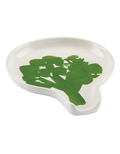 Kate Spade New York Broccoli Spoon Rest-WHITE-One Size