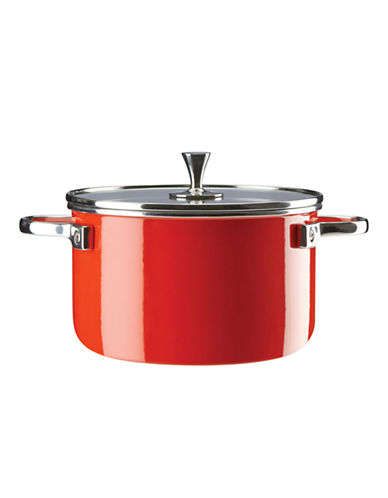Kate Spade New York Four-Quart Metal Casserole-RED-One Size
