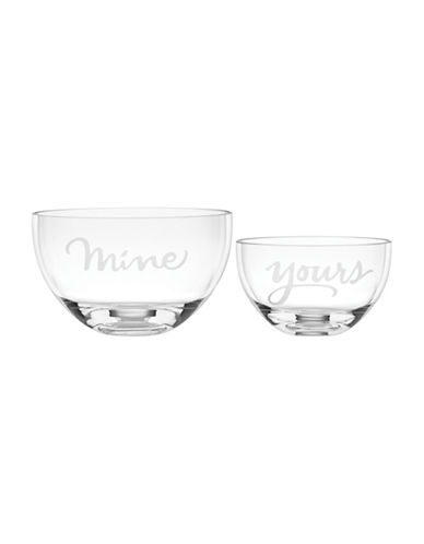Kate Spade New York Two of a Kind Glass Bowls-CLEAR-One Size