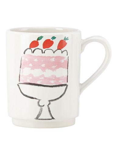 Kate Spade New York Illustrated Cake Mug-WHITE-One Size