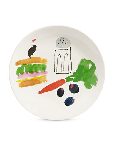 Kate Spade New York Sandwich Art Accent Plate-WHITE-One Size