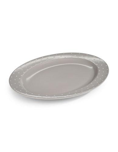 Kate Spade New York Larabee Dot Serving Platter-GREY-One Size