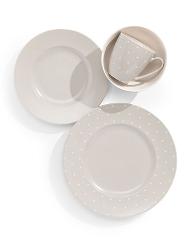 Kate Spade New York Four-Piece Larabee Dot Place Setting-GREY-One Size