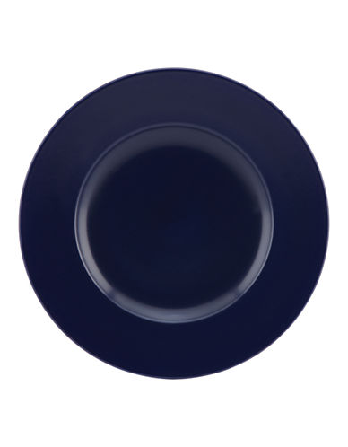 Kate Spade New York Larabee Dot Accent Plate-NAVY-One Size