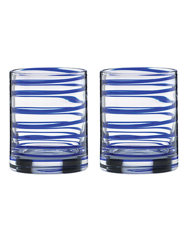 Kate Spade New York Charlotte Street Double Old Fashioned Glasses-CLEAR-One Size
