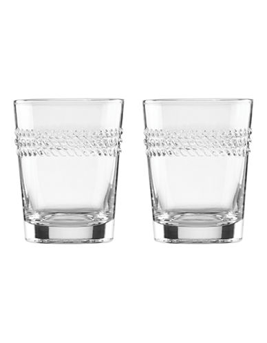 Kate Spade New York Wickford Double Old Fashioned Glasses-CLEAR-One Size