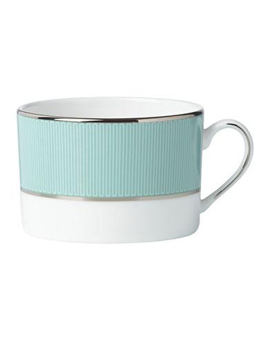 Brian Gluckstein By Lenox Clara Platinum Tip Cup-AQUA-6 Ounces