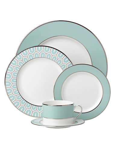 Brian Gluckstein By Lenox Clara Five-Piece Place Setting-AQUA-One Size