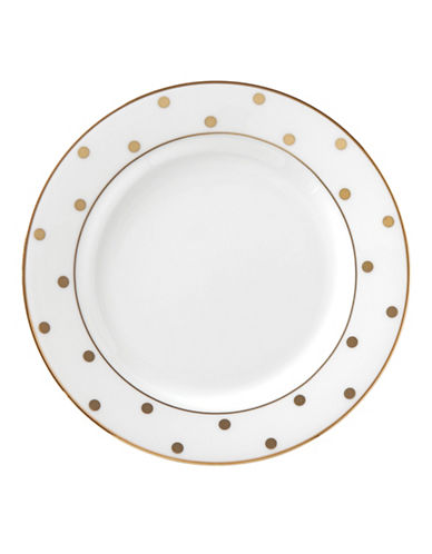 Kate Spade New York Larabee Road Gold Butter Plate-WHITE-One Size