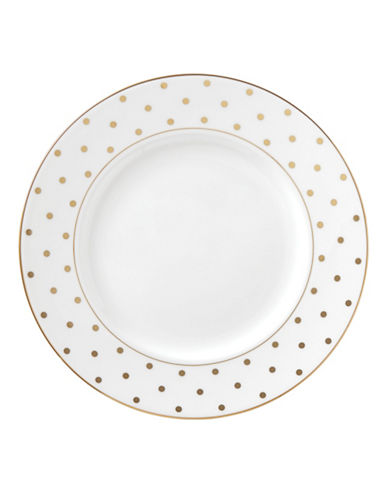 Kate Spade New York Larabee Road 10.75-Inch Gold Dinner Plate-WHITE-One Size