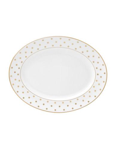 Kate Spade New York Larabee Road Oval Platter-WHITE-One Size
