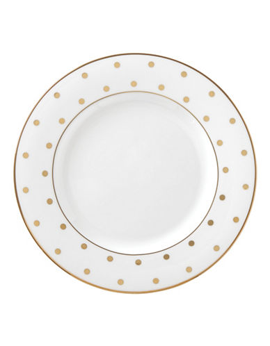 Kate Spade New York Larabee Road 8-Inch Gold Salad Plate-WHITE-One Size