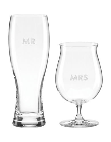 Kate Spade New York Set of Two Darling Point Beer Glasses-CLEAR-One Size