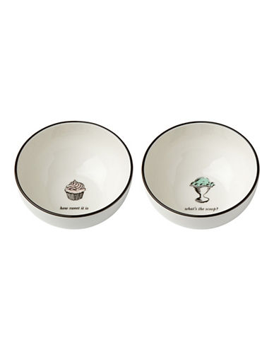 Kate Spade New York Cause A Stir Two-Piece Dessert Bowls-WHITE-One Size