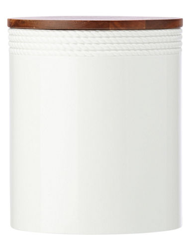 Kate Spade New York Wickford Canister Large-WHITE-One Size