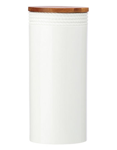Kate Spade New York Wickford Canister Tall-WHITE-One Size