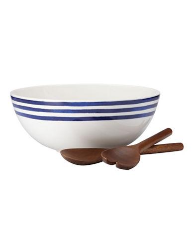 Kate Spade New York Charlotte Street Salad Set-BLUE-One Size