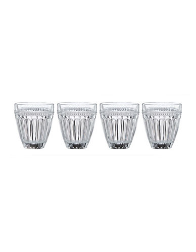 Lenox French Perle Four-Piece Double Old Fashion Glass Set-CLEAR-One Size