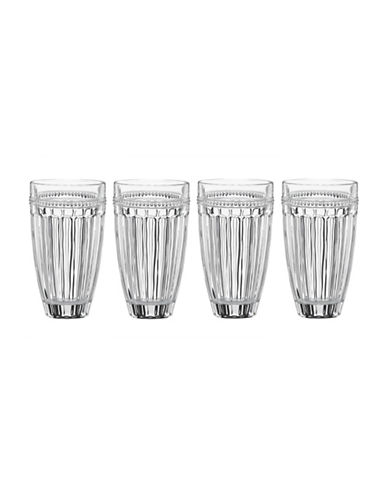 Lenox French Perle Four-Piece Highball Glass Set-CLEAR-One Size