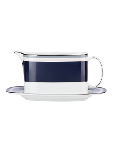 Kate Spade New York Mercer Drive Gravy Boat with Stand-BLUE-One Size