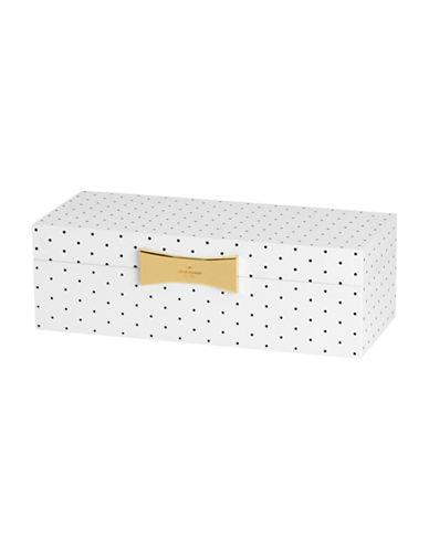 Kate Spade New York Garden Drive Rectangular Spot Jewellery Box-WHITE-One Size