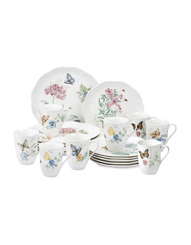 Lenox 18-Piece Butterfly Meadow Dinnerware Set with Two Free Mugs-ASSORTED-One Size
