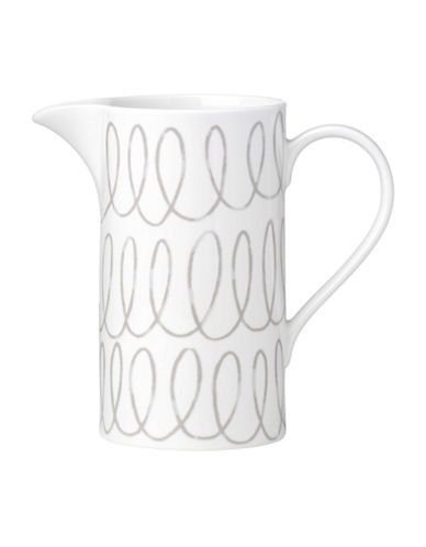 Kate Spade New York Casual Dinnerware Pitcher-WHITE/GREY-One Size