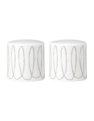 Kate Spade New York Casual Dinnerware Salt and Pepper Set-WHITE/GREY-One Size