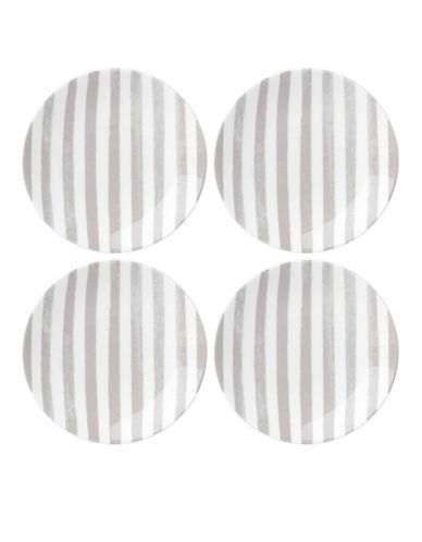 Kate Spade New York Striped Tidbit Set-WHITE/GREY-One Size
