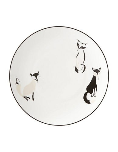 Kate Spade New York Forest Drive Fox Accent Plate-WHITE-One Size